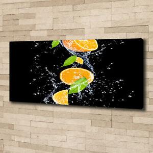 Leinwandbild Kunst-Druck 100x50 Bilder Essen Getränke Limette im Wasser