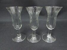 Set f 3 Vintage Sherry Glasses Rippled Effect