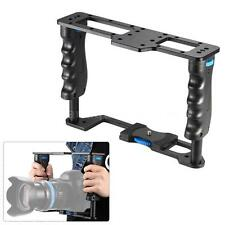 Video Camera Cage Rig with Dual Handle Grip for Canon Nikon DSLR Camcorder D7L0