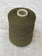 500 Gram Cone 90%Wool10% Nylon 3/9Nm Weaving/knitting/crochet 3-4ply.Khaki Green