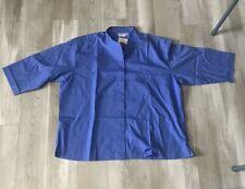 Chef Works Fb25 Atb 3xl Chef Coat 3xl V Neck Button Down Sky Blue Rn 107730 New