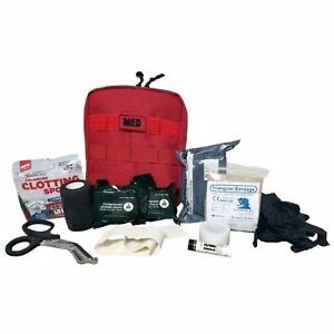 Elite First Aid Military IFAK - Individual First Aid Kit Fully Stocked