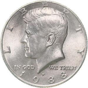 1988 P Kennedy Half Gem BU