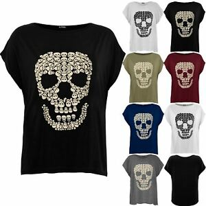 27a885e7eb4be Plus Size Ladies Women Lagenlook T-shirt Halloween Loose Baggy Top ...