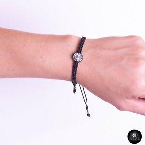 Kavak - Handmade Girl Black Saint Benedict Adjustable Women's Bracelet