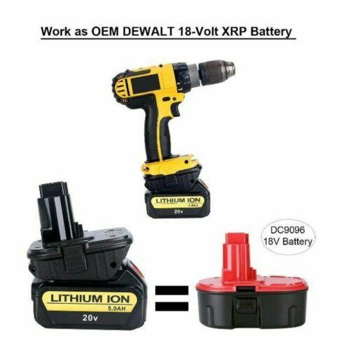 20V Max Lithium Batterie Konverter Adapter Für Dewalt 18V Tools 2X DCA1820 18