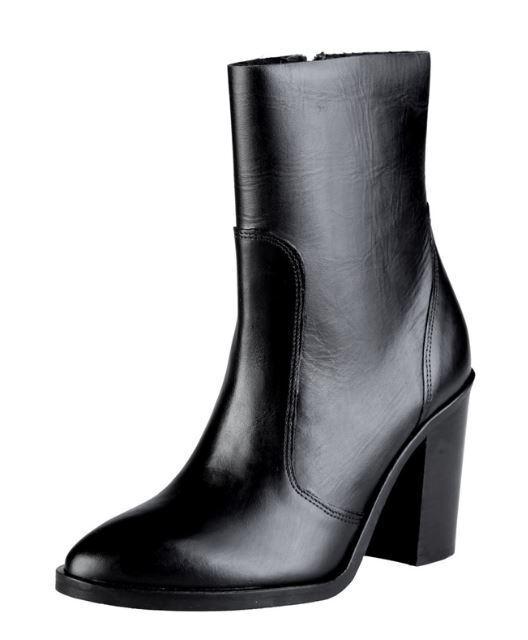 Versace V1969 MELUSINE schwarz Echtleder Stiefel Stiefelette Damenschuhe Stiefel Echtleder b52528