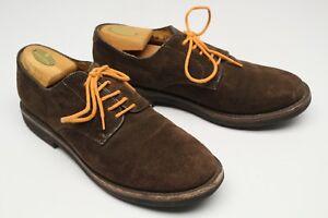 ff280563e06 Brooks Brothers Mens Shoes 9.5 D Brown Suede Plain Toe Blucher ...