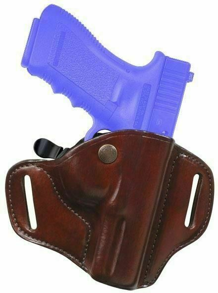 Bianchi CarryLok Auto Retention Leather Holster RH Tan 22146 for sale online