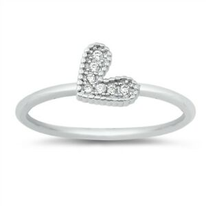 Women/'s Infinity White CZ Promise Ring New .925 Sterling Silver Band Sizes 4-9