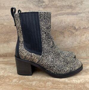 9ff19d622c5 UGG Australia Camden Exotic Cow Hair Women's Boots Black Dotted | eBay