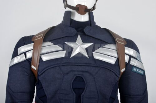 Captain America The Winter Soldier Steve Rogers Outfit Cosplay Costume Jacket