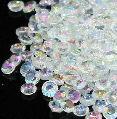 2000PCS 4.5mm AB Clear Crystal Diamond Table Confetti Wedding Decoration Scatter