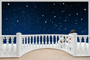 Image Is Loading Huge Balcony Snow Man Child Wall Stickers