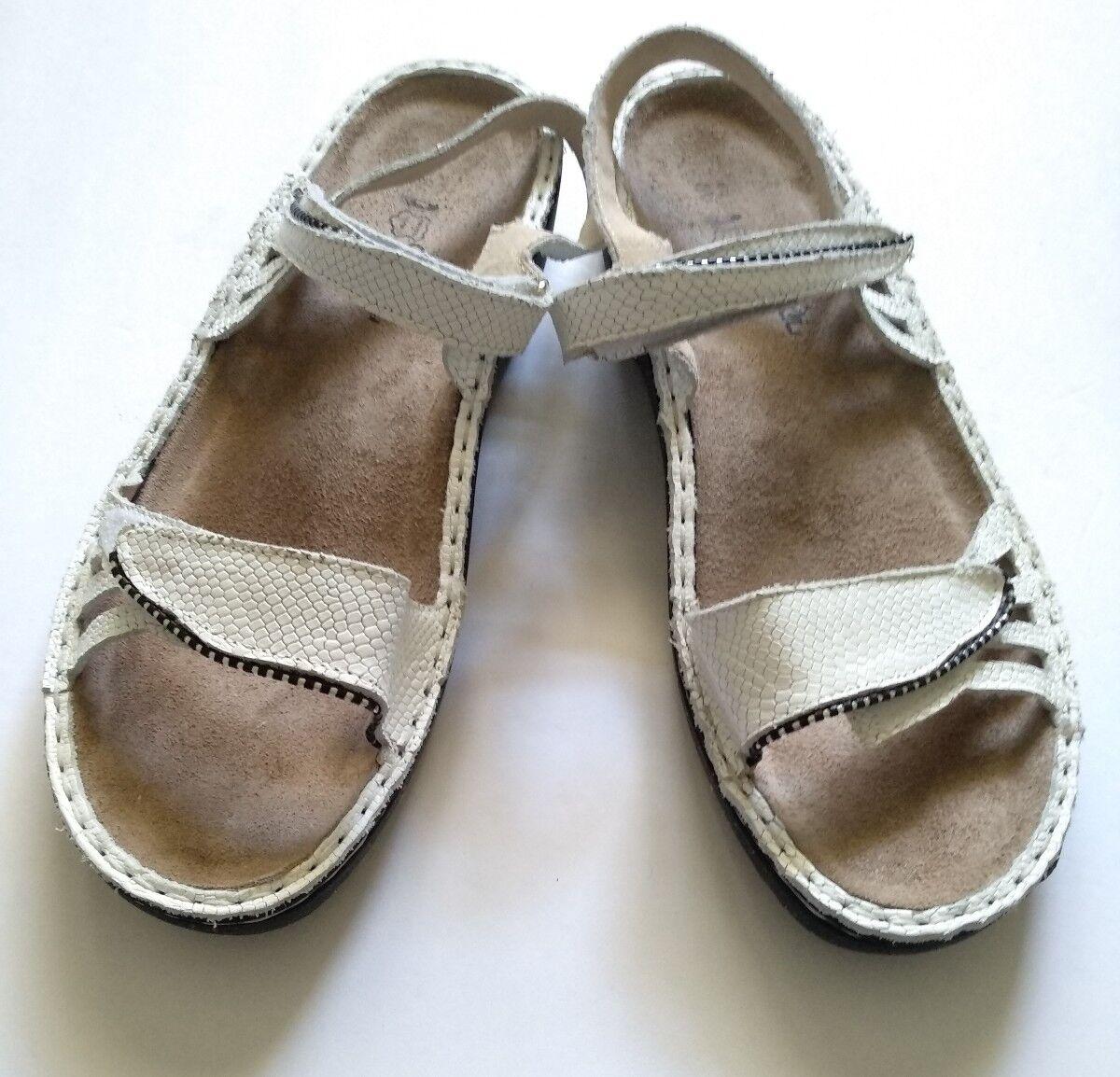Naot donna bianca cut leather slingback sandals sz.40 (US 8) 8) 8) e64883