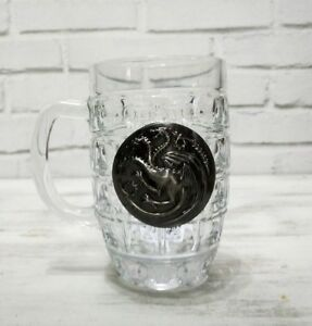 Targeryan-dragon-metal-logo-beer-half-pint-glass-1pcs