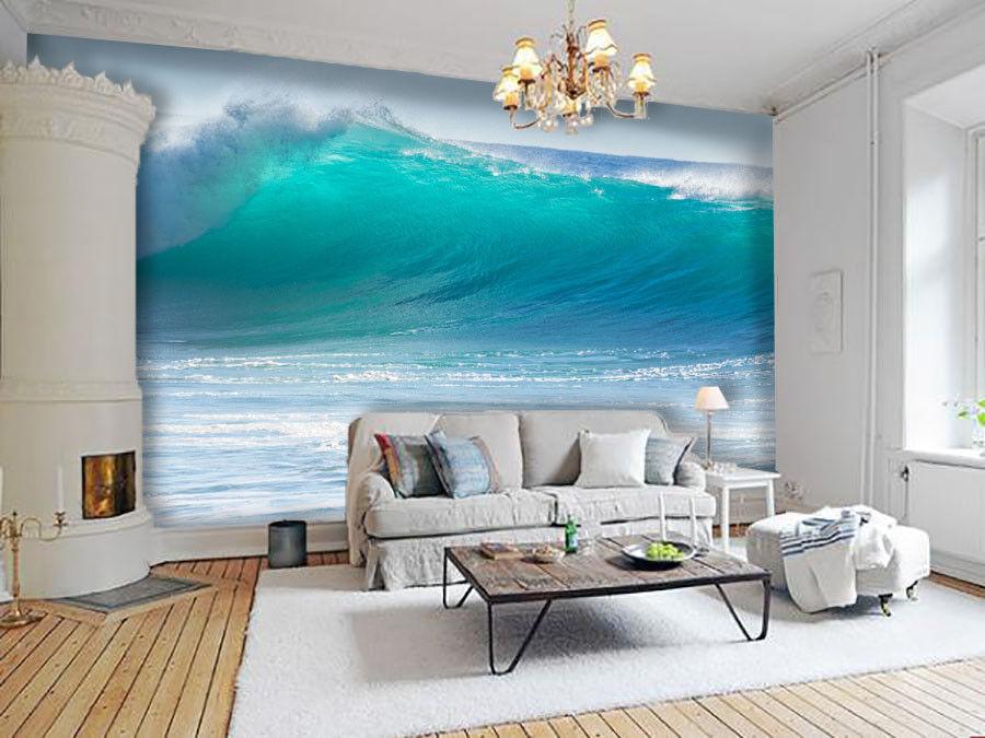 3D Blaues Meer Wellen 74 Tapete Wandgemälde Tapete Tapeten Bild Familie DE