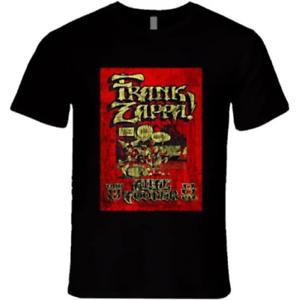 Frank Zappa Rock Concert Vintage Retro 80s T-Shirt Black Size S 5XL
