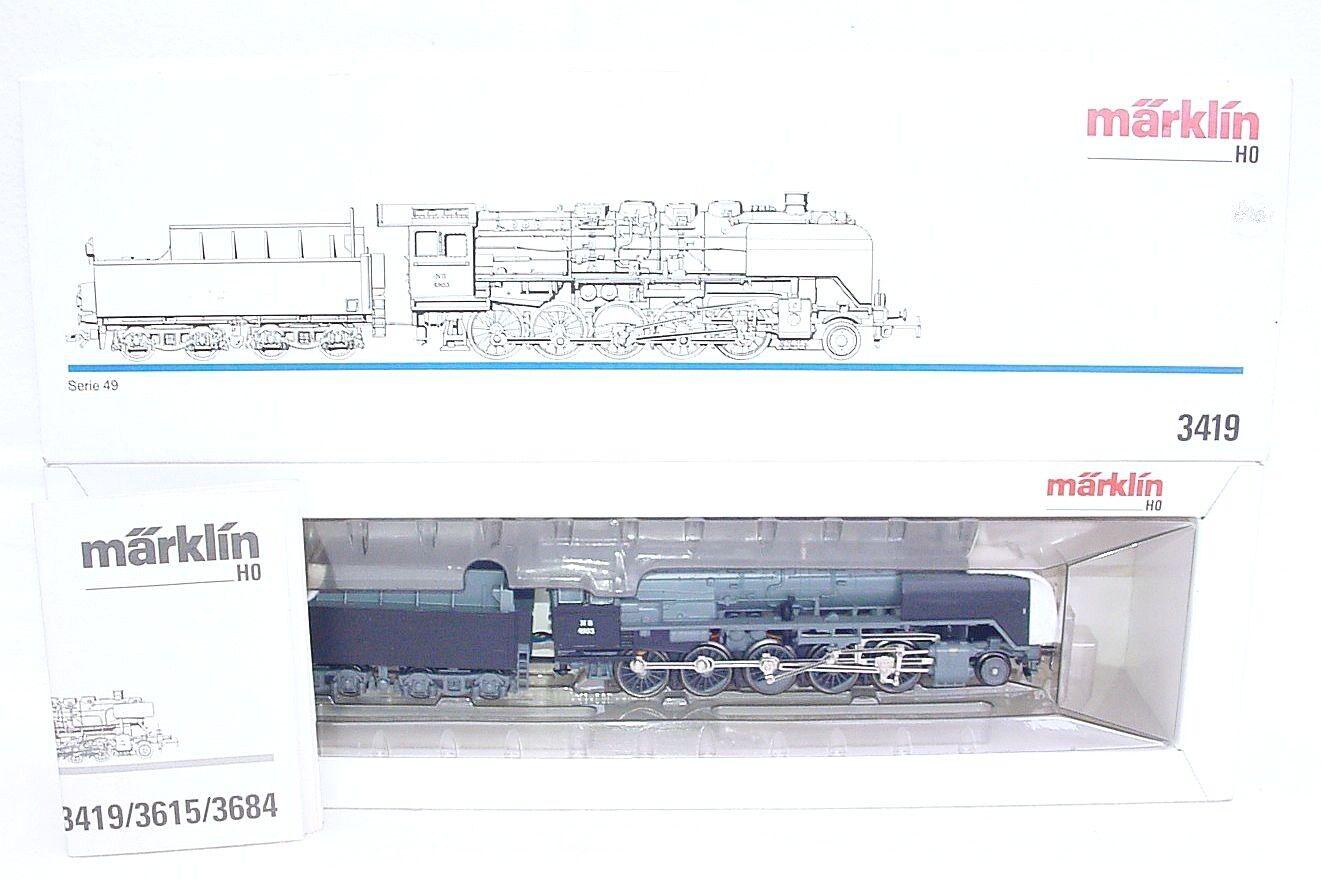 Marklin AC HO 1 87 Dutch NS POST-WAR Serie 49 Heavy STEAM LOCOMOTIVE 3419 MIB`90