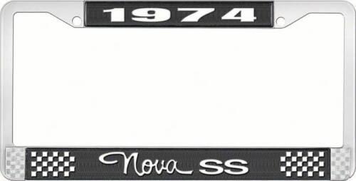 Black 1974 Nova SS License Plate Frame Style 3
