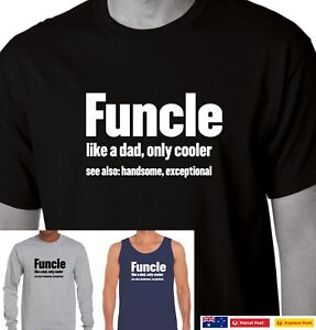 Funcle-Definition-T-Shirt-Funny-Gift-For-Uncle-Like-A-Dad-But-Way-Cooler