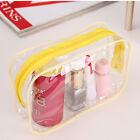 Plastic PVC Clear Transparent Travel Makeup Cosmetic Toiletry Zip Bag Pouch ZU