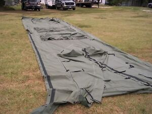 Details about MILITARY TEMPER TENT CENTER SECTION WITH DOORS SURPLUS NOT  COMPLETE TENT ARMY