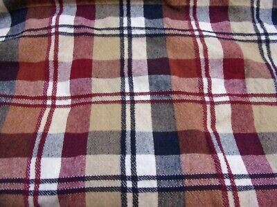 "Cotton Park Cottage Tablecloth ~ Iris White Plaid ~ 60/"" x 84/"" Oval **NEW**"
