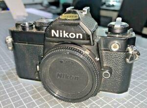 Nikon FM SLR for 35mm Film, Black, body only, 1980s