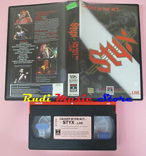 VHS STYX Caught in the act... live 1984 88 MINUTI RCA RVT 10430 cd lp dvd (VM8)