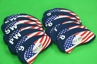 10 Golf Mad Iron Covers Golf Iron Headcovers for Ping Titleist Cobra ONLY USA