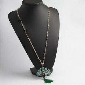 Kate Spade New York Full Plume Peacock Pendant Necklace Blue Multi