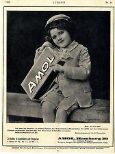 Künstlerwerbung für AMOL-Präperat in Flaschen Ad 1910