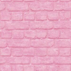3d Brick Effect Wallpaper Pink Embossed Textured Industrial Metallic Urban Ebay