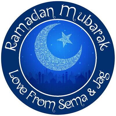 Metodico Personalised Gloss Ramadan Mubarak Felice Eid Muslim Etichette Adesivi- Tieniti In Forma Per Tutto Il Tempo