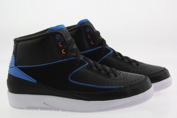 Men Air Jordan 2 Retro Radio Raheem black photo blue pink