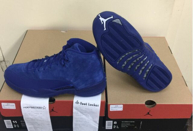 cheaper f9486 0d7e5 NIKE AIR JORDAN XII RETRO 12 DEEP ROYAL BLUE SUEDE 130690-400 AUTHENTIC