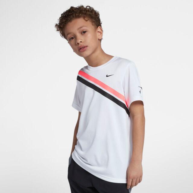 e14fe594811 NikeCourt RF Federer Older Kids (boys) Tennis T-shirt 2018 Australian Open  Large for sale online | eBay