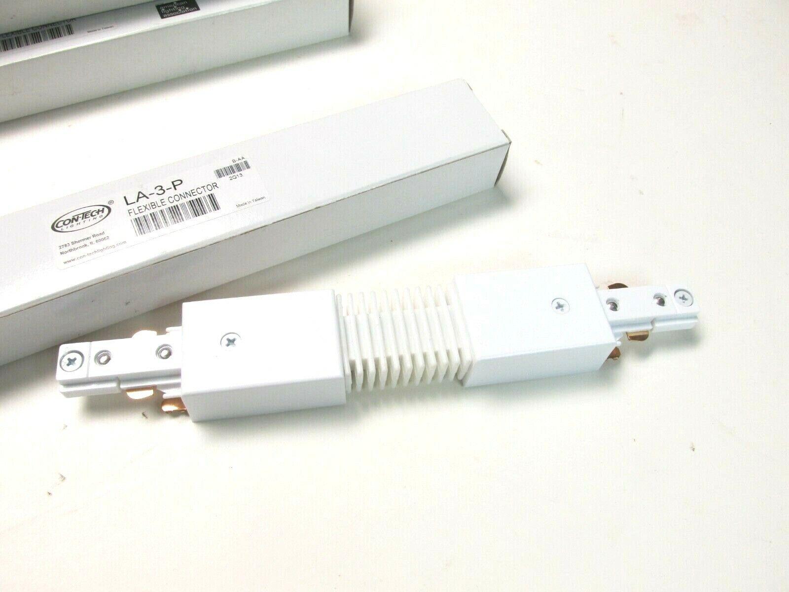 Contech la 3 p flexible connector track lighting coupling white finish la3p