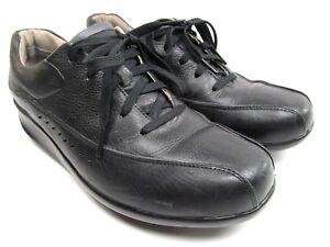 Aravon-New-Balance-Laney-Womens-Black-Leather-Lace-Up-Oxfords-Size-9-5-B