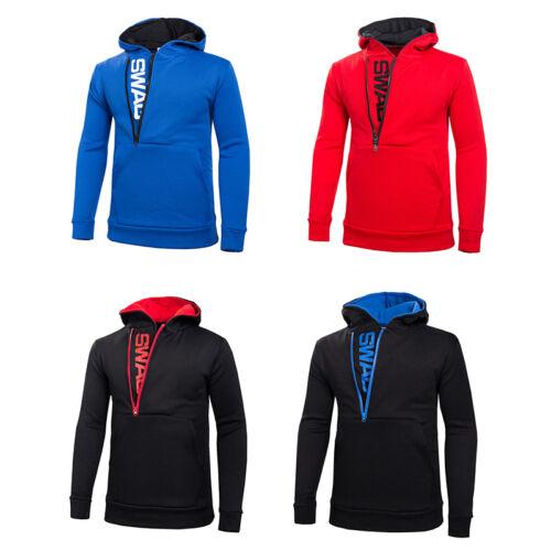 Nouvelle Hommes élégant Slim Sweats Sweatshirt Zipper Coat jacketoutwear Sweater