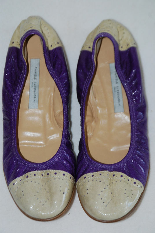 ALESSANDRINI scarpe SCARPE BALLERINE 36 NUOVO  PELLE LEATHER NEW
