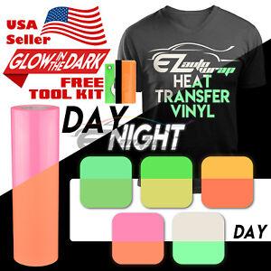 Glow In The Dark Heat Transfer Vinyl Htv T Shirt 20 Wide Roll Iron