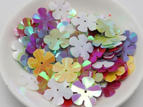 450 Mixed Color Flower loose sequins Paillettes 20mm sewing Wedding craft