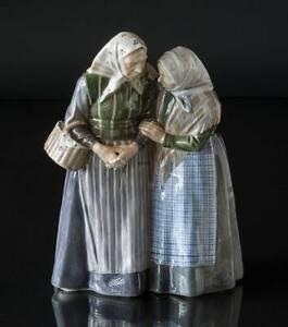 "ROYAL COPENHAGEN ""THE GOSSIPS"" TWO OLD LADIES LARGE FIGURINE - CHRISTIAN THOMSEN"