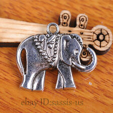 20pcs 25mm Charms Elephant pendant Connector Tibet Silver Diy Jewelry Bail A7104