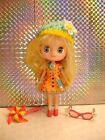 Hasbro Mini Blythe #B5 Blonde Hair Doll 'Pinwheels & Daisies' with Original Acc