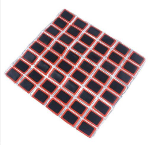 48PCS Rubber Puncture Patches Bicycle Bike Tire Tyre Tube Repair Patch Kit US