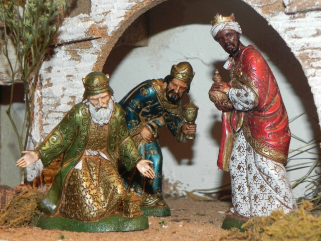 Landi Wise Men Nativity Figurines for Presepio Manger Scene Pesebre Kings Reyes