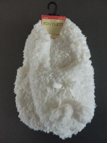 Teddy Fleece Damen Hausschuhe Pantoffel Slipper Bommel Weiß 36 37 38 Primark NEU